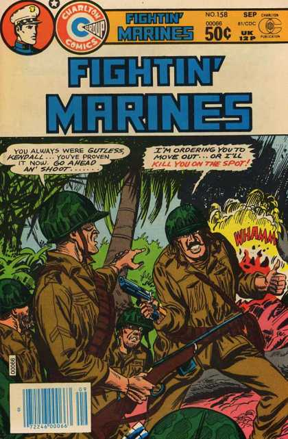 Fightin' Marines 158 - Chartlon Comics - Sep - Gun - Tree - Whamm