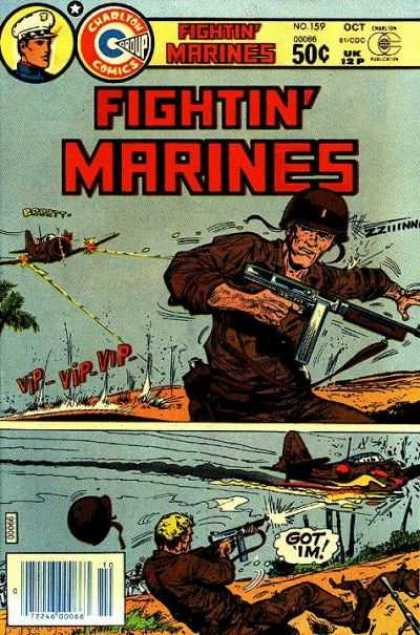 Fightin' Marines 159 - Machine Gun - Strafe - Airplane - Explosion - South Pacific