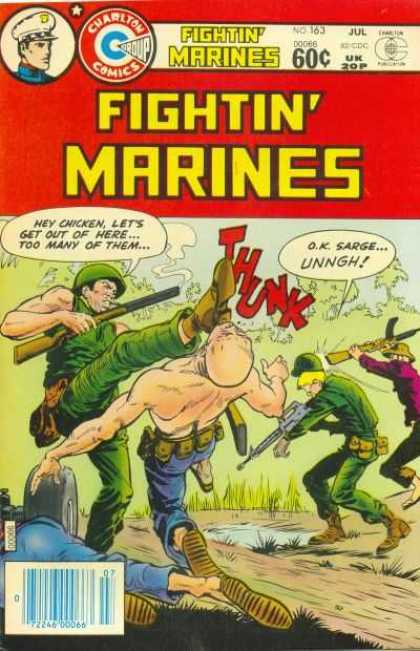 Fightin' Marines 163 - Soldiers - Gun - Kicks - Fights - Enemy