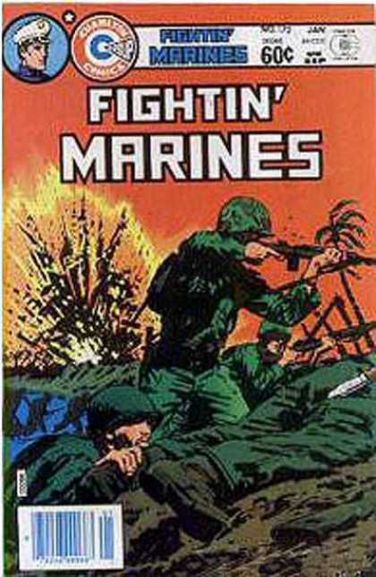 Fightin' Marines 172 - Jan - Trees - Gun - Cap - Marines