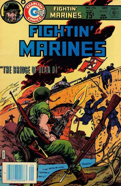Fightin' Marines 176 - Charlton Comics - Bronze Age - War Stories - Bridge Of Olan Di - Violent Images