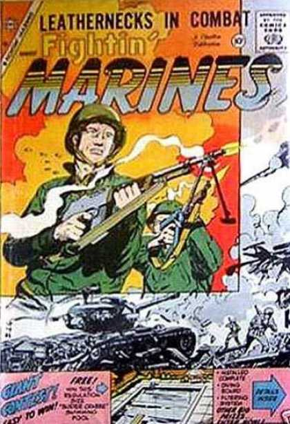 Fightin' Marines 31 - Gun - Approved By The Comics Code Authority - Leathernecks In Combat - Cap - Fight