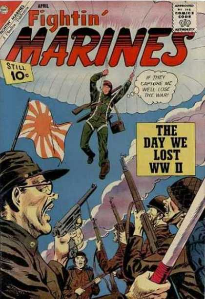 Fightin' Marines 46 - The Day We Lost Ww Ii - Parchute - Japanese - Troops - Guns