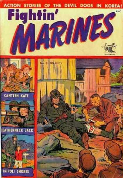 Fightin' Marines 8 - Action Stories - Devil Dogs - Korea - Soldier - Guns
