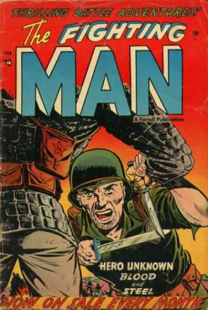 Fighting Man 4 - Army Soldier - Army Fatigues - Brown Ouch - Battle Adventures - Farrell Publication