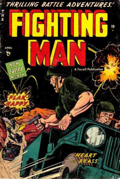 Fighting Man 6 - Jeep - Army - Explosion - Gun - Flak
