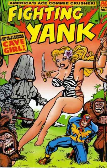 Fighting Yank (2001) 3 - Zebra Bra - Knife - Curvaceous Cave Girl - Stone Man - Apes With Spears