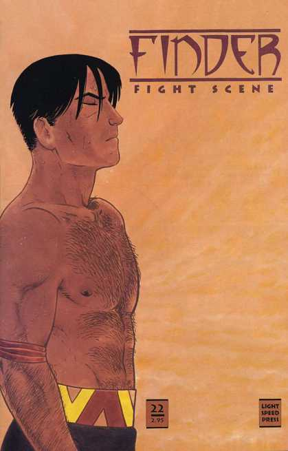 Finder 22 - Fight Scene - Bare Chest - Hairy - Closed Eyes - Belt