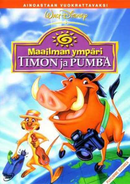 Finnish DVDs - Around The World With Timon And Pumbaa