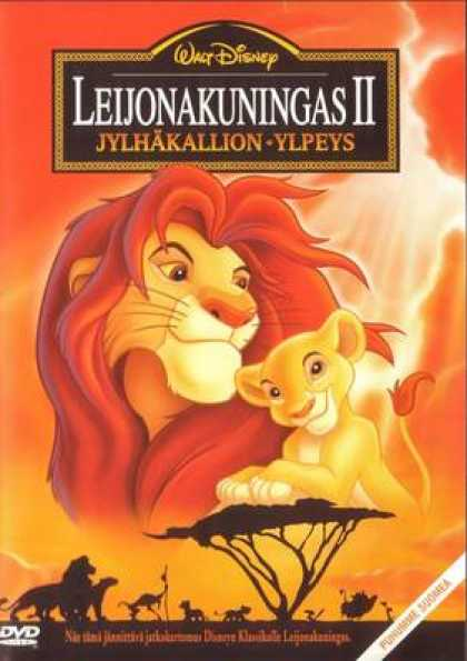 Finnish DVDs - The Lion King 2 Simbas Pride