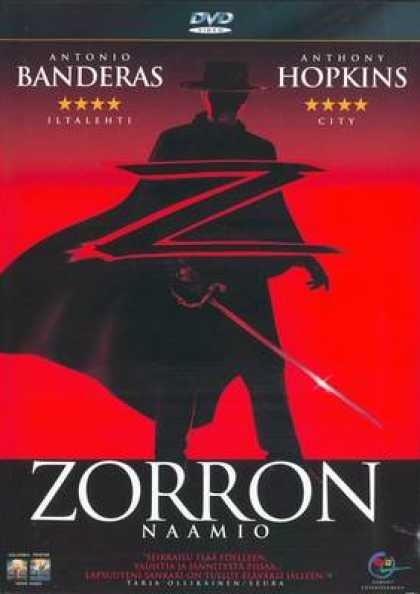 Finnish DVDs - The Mask Of Zorro
