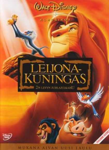 Finnish DVDs - The Lion King Special