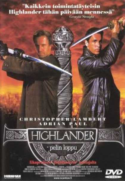 Finnish DVDs - Highlander: Endgame
