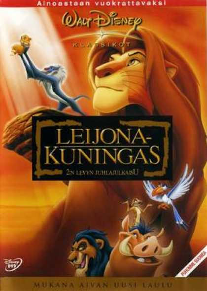 Finnish DVDs - The Lion King