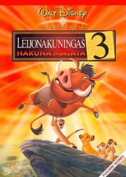 Finnish DVDs - The Lion King 3