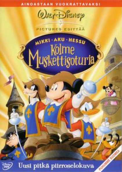 Finnish DVDs - Disney The Three Musketeers