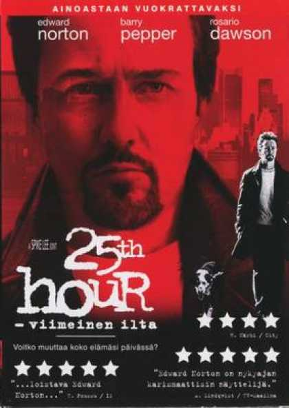 Finnish DVDs - 25th Hour