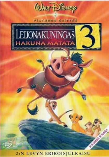 Finnish DVDs - The Lion King 3 Special