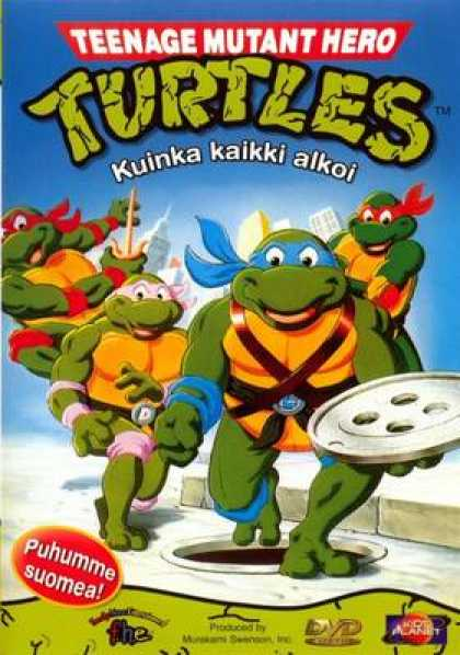 Finnish DVDs - Teenage Mutant Hero Turtles