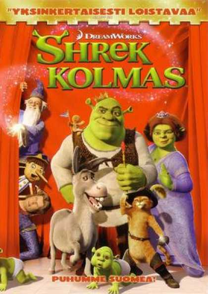Finnish DVDs - Shrek The Third
