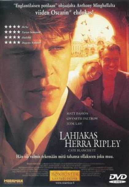 Finnish DVDs - The Talented Mr. Ripley