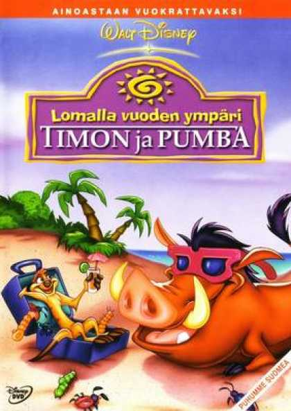 Finnish DVDs - On Holiday With Timon And Pumbaa