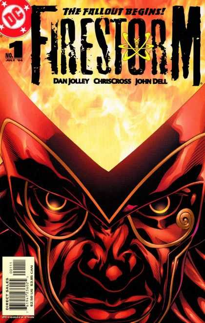 Firestorm 1 - The Fallout Begins - Flame - Dc - Mask - Eyes