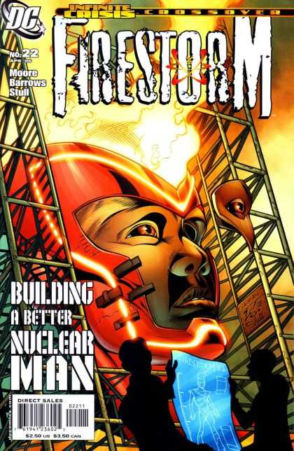 Firestorm 22 - Infinite Crisis - Building A Better Nuclear Man - Giant Head - Fire - Crossover - Jamal Igle