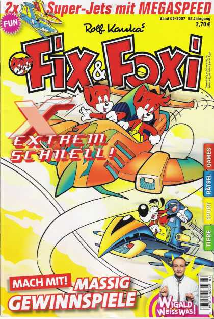 Fix & Foxi (2005) 16 - Space Ships - Dog - Boy And Girl - Orange - Blue