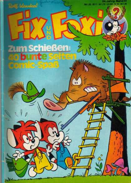 Fix und Foxi 1084 - Gun - Ladder - Warthog - Hat - Purse