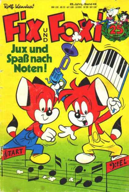 Fix und Foxi 1097 - Dance - Music - Notes - Piano - Horn
