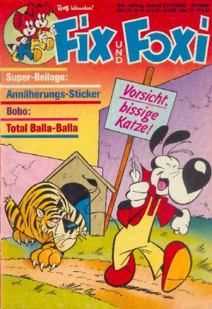 Fix und Foxi 1227 - German - Tiger - Cat - Lupp - Sign