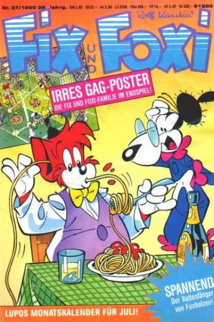 Fix und Foxi 1238 - Rolf Kauka - Animals - Spaghetti - Spectacles - Bow Tie