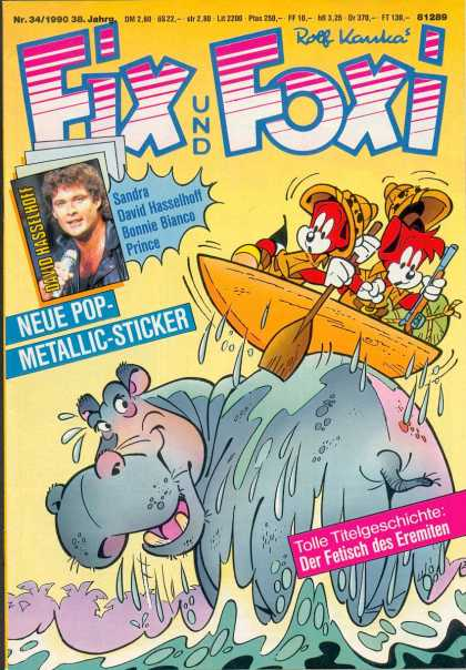Fix und Foxi 1241 - Hippo - Water - Boat - Fox - Paddle