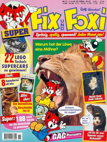 Fix und Foxi 1246 - Young Foxes - Lion - Lego - Photographs - Mariah Carey