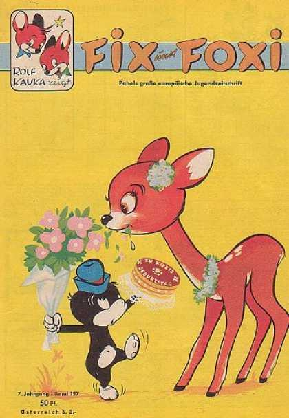 Fix und Foxi 127 - Cake - Bambi - Flowers - Hat - Birthday