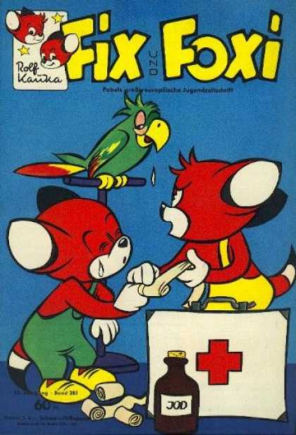 Fix und Foxi 281 - Fox - Parrot - First Aid - Bandages - Tears