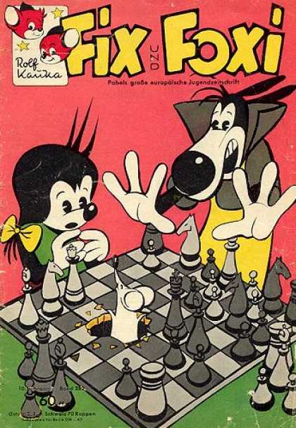 Fix und Foxi 282 - Fix - Foxi - Chess - Playing Chess - Mouse