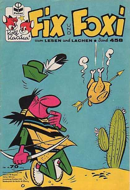 Fix und Foxi 458 - Cactus - Turkey - Bow And Arrow - Indian - Feather Hat