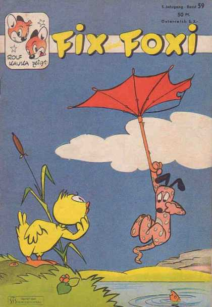 Fix und Foxi 59 - Umbrella - Duck - Fish - Dog - Pond