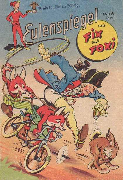 Fix und Foxi 6 - Eulenspiegal - Lasso - Bicycle - Hare - Salt Shaker