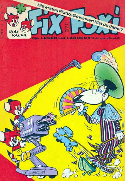 Fix und Foxi 670 - German Comic - Foxes - For Kids - Camera - Dog And Mouse