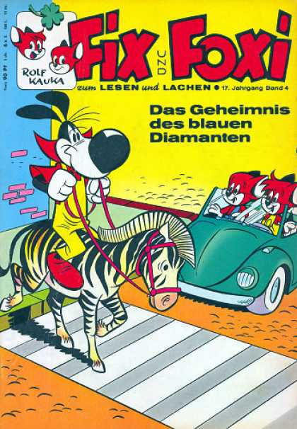 Fix und Foxi 683 - Rolf Kauka - German - Fox - Zebra - Car