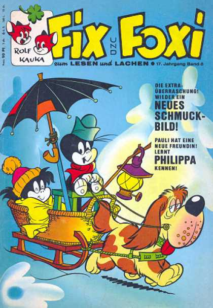 Fix und Foxi 685 - Fox - Umbrella - Dog - Sleigh - Snow