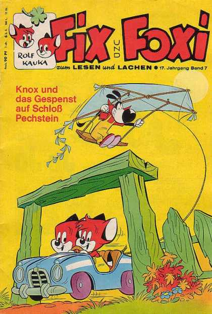 Fix und Foxi 686 - Rolf Kauka - Kite - Swing - Animals - Car