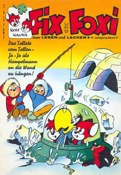Fix und Foxi 696 - Inuits Ice Fishing - Spaceship - Igloos - Kauka - Rolf