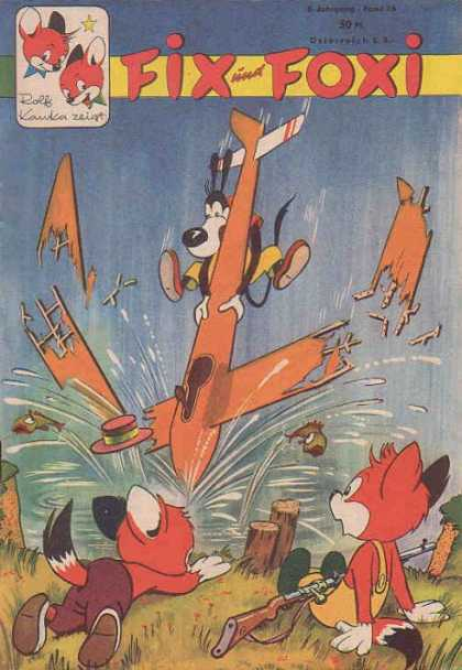 Fix und Foxi 76 - Plane Crash - Two Foxes - Rolf Kauka - Fish - Splash