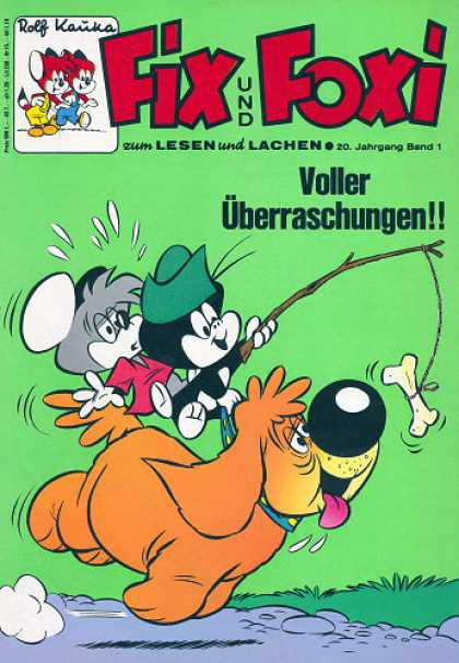 Fix und Foxi 837 - Dog - Mouse - Riding - Smart - Green Hat