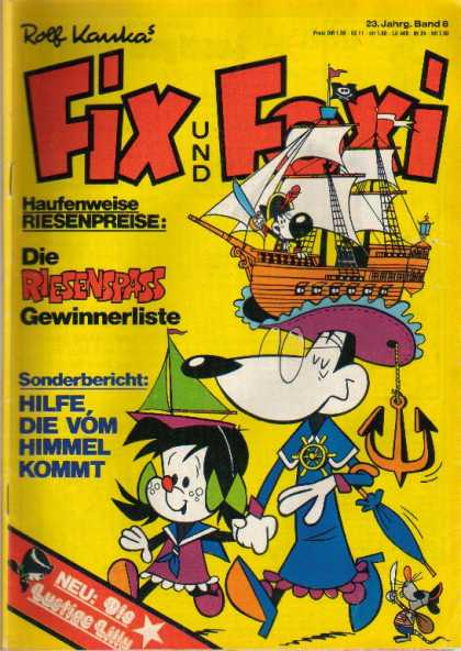 Fix und Foxi 999 - Pirates - Anchor - Ship Hats - Mice - Flags