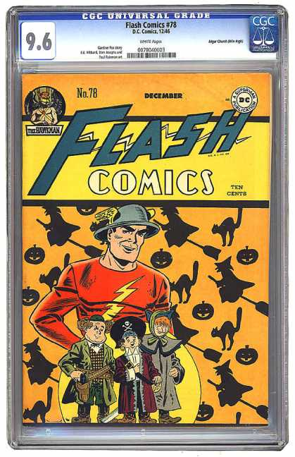 Flash Comics 78 - Costumes - Cats - Witches - Jack Olanterns - Pirate